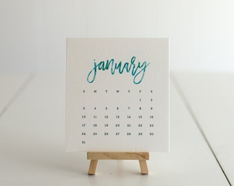 Desk Easel Calendar–Watercolor