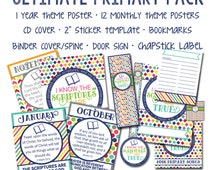 2016 LDS Ultimate Primary Pack - Printable - I Know The Scriptures Are True - Instant Download - Sharing Time - 2016 Primary - Mormon Art