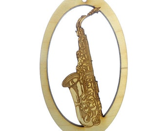 Saxophone Ornament - Saxophone Gift - Saxophone Christmas Ornament - Music Ornament - Musician Gifts - Musician Ornaments - Saxaphone Gifts