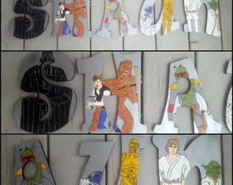 Star Wars Letters - Hand Painted Letters - Name Letters - Wood Letters - Star Wars Name - Painted Letters - Custom Letters - Wooden Letters