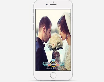 Wedding Snapchat Geofilter, Floral Snapchat Filter, Custom Wedding Geofilter, Ring Wedding Snapchat Filter, Bridal Shower Geofilter