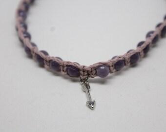Arrow Charm Purple Anklet
