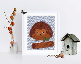 Woodland Hedgehog Nursery Decor