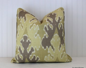 BOTH SIDES - ONE Kelly Wearstler Bengal Bazaar Straw Pillow Cover with Self Cording