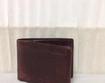 Free Ship,leather wallet, Di Lido,Brown, Leather, Wallet Buffalo leather