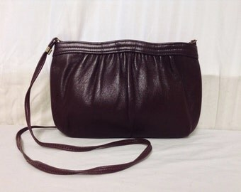 Burgundy Leather Purse,bag, Shoulder Bag