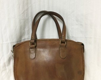 Free Ship Leather Purse Tote Brown Handbag