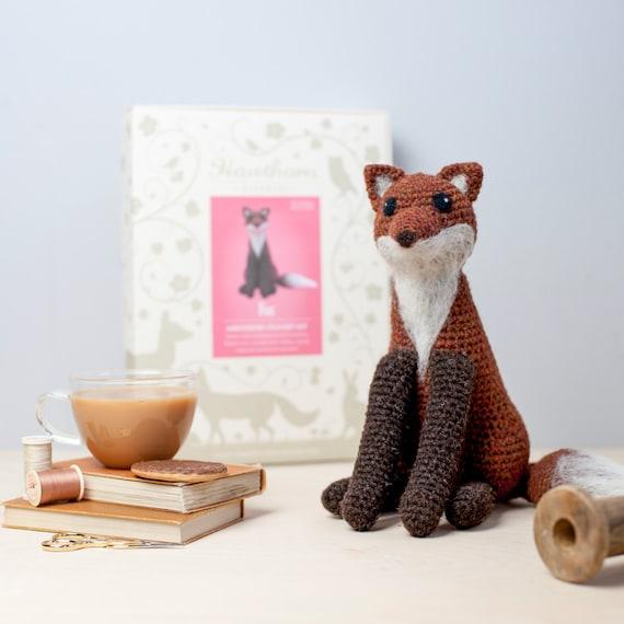 Amigurumi Beginner Kit : Fox Crochet Kit Amigurumi Crochet Fox Kit craft set gift