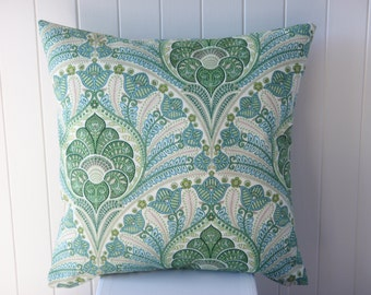 Outdoor Tommy Bahama 45cm Green and turquoise Blue Cushion / Pillow Cover