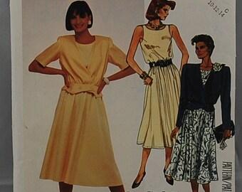 McCalls 2406 - Ladies Dress Pattern - Ladies Jacket Pattern - Easy Dress Pattern - Sizes 10, 12, and 14