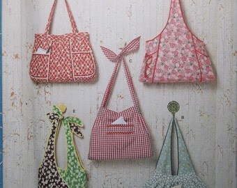 Simplicity 2381. Bag patterns. Cute and easy to sew. One size pattern. New, uncut, factory folded.