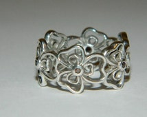 Authentic Pandora Ring Posey Flower Chain New Retired 190601CZB-53 Size 6