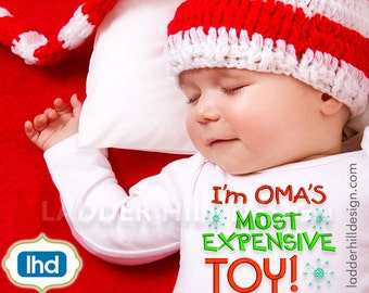 Omas Most Expensive Toy ~ Christmas Embroidery Design CHR009B