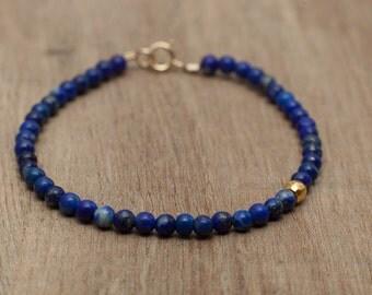 Lapis Pretty bracelet made with Genuine Gemstone Blue Lapis Lazuli and pyrite