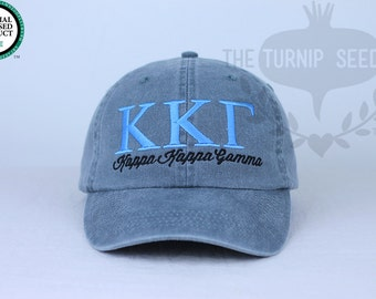 Kappa Kappa Gamma Sorority Baseball Cap - Custom Color Hat and Embroidery.