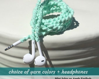 Birthday Gift for Wife iPhone 6s Headphones ~ Wrapped Earbuds for iPhone iPad iPod Android ~ Your Choice of Colors ~ Girlfriend Sister BAE
