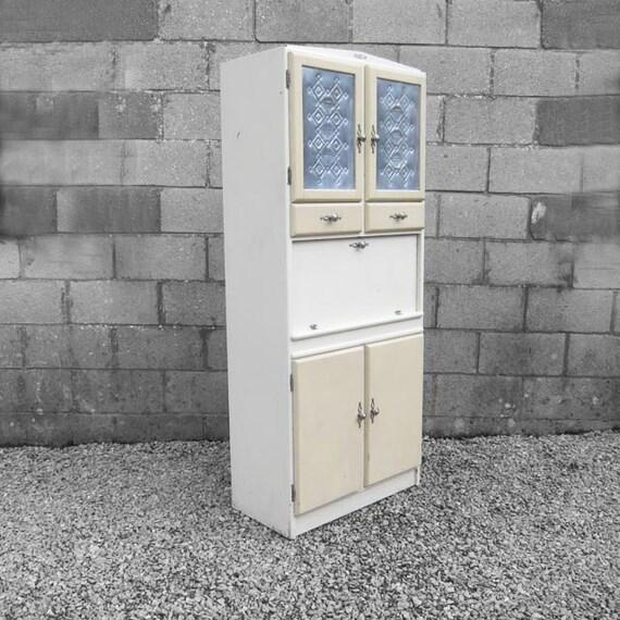 Cream kitchen cabinet 1960s vintage cupboard storage for 1960 kitchen cabinets