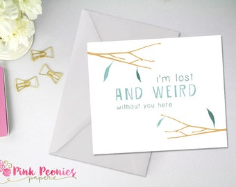 Greeting Card, Thinking About You Card, Funny, Cheeky Card, Missing You Card, DIY Digital Download - Digital Card - Instant Download