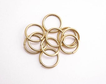 Antique Gold Jump Rings, (10 pcs) 12.5mm Nunn Design Jump Rings, Antique Gold Jump Rings, Large Jump Rings JPR0018