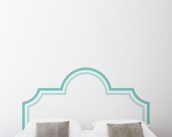 Elegant Headboard Wall Decal Sticker - Bedroom Wall Sticker