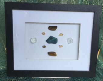 FOCUS Azurite Citrine Tigers Eye Apophyllite Framed Crystal Grid Mandala