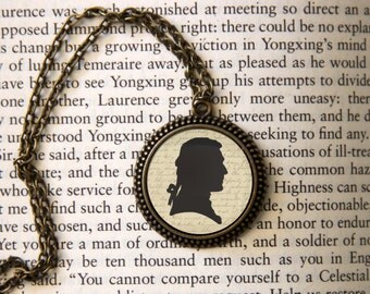 Benjamin Tallmadge Silhouette Pendant Necklace Cute Gift!