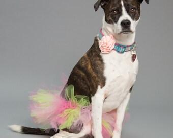 Pet Supplies-Pet Clothing-Accessories& Shoes Pet Accessories-Pet parade-Wedding Dog Collar-Wedding Dog flower-Dog collarflower-Peach-Flower
