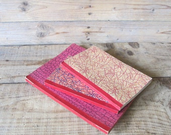 Set of 3 old vintage French numbered blank notebook