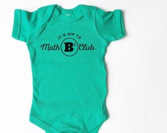 Math Club baby shirt. Funny shirt! Cute bodysuit!