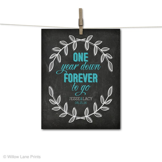 gift for wife or for husband -1st anniversary keepsake - one year ...
