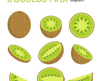 Clip Art Kiwi Clipart kiwi clipart etsy set clip art for scrapbooking card making cupcake toppers paper crafts