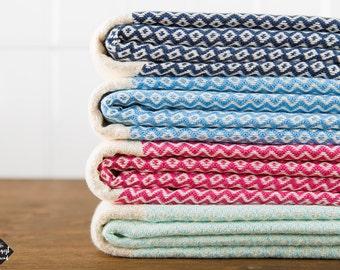 Kilim Towel, Bath Towel, Beach Towel, Turkish Towel, Peshtemal, Hammam Towel, Navy, Blue, Fuchsia, Mint