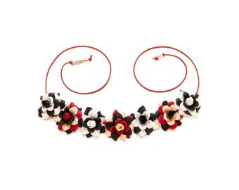 Cruella de Vil Flower Crown, Flower Headband, Cruella Costume, 101 Dalmatians Costume, Villain Headband, Villain Costume, Halloween Costume