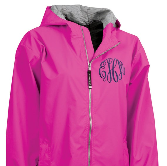 Monogrammed Youth Teen Child Rain Jacket Waterproof By