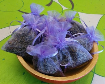 15 Fragrant Lavender Organza Sachets - Wedding/Party/Baby and Moth Repellant