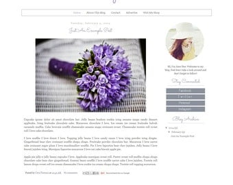 Premade Blogger Template - Simple Modern Clean Minimalist Blog Design - Blog Layout  - Blog Theme