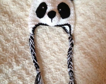 Crochet Panda Bear Hat