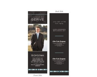 Custom Missionary Address Bookmark | 2x6 Digital File