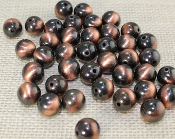 12mm Antique Copper Round Beads (20 Pieces)