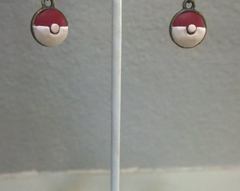 Pokeball Cameo Earrings