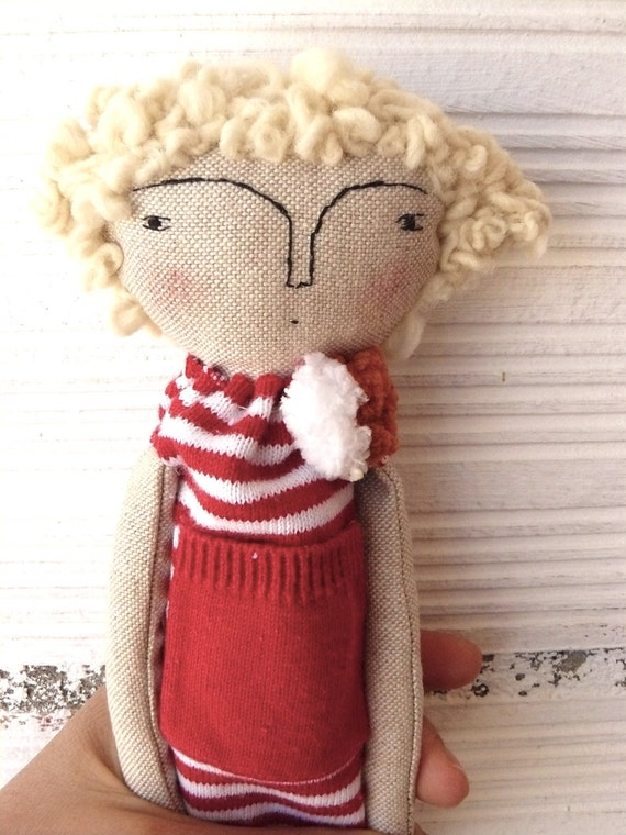 Rag doll with curly hair