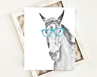 Horse Artwork, Teen Room Decor, Horse Wall Art, Horse Print, Horse Poster, Horse Printables, Horse Art Prints, Digital Download