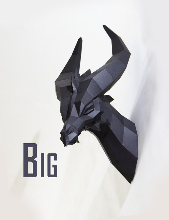 Big Black Dragon - Premium Papercraft Kit