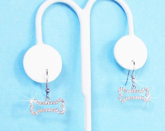 Petite Crystal Bone Earrings