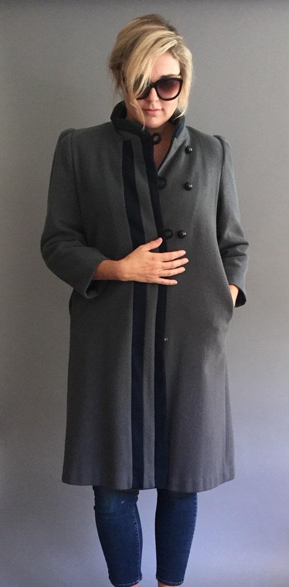 60s Mod Handmade Straight Line Coat Jacket (M)