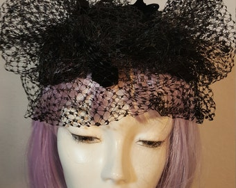 FREE  SHIPPING  1950 Veil Mini Hat