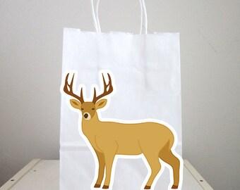 Deer Goody Bags, Deer Favor Bags, Deer Gift Bags, Hunting Goody Bags