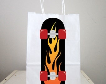 Skate boarding Goody Bags, Skate boarder Favor Bags, Skate boarding Party Bags