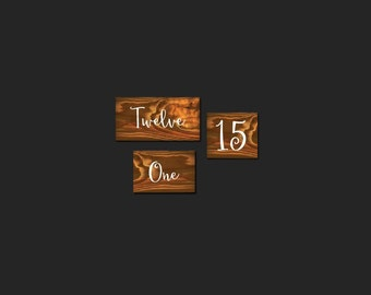 Wedding Table Number Decals For Crafts Wedding Signs Stencils DIY