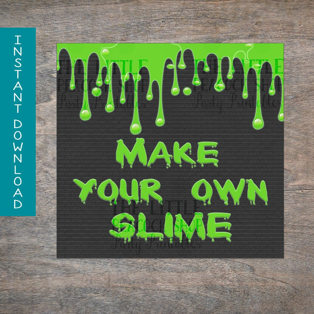 Ghostbusters Make Your Own Slime Sign Printable And Digital